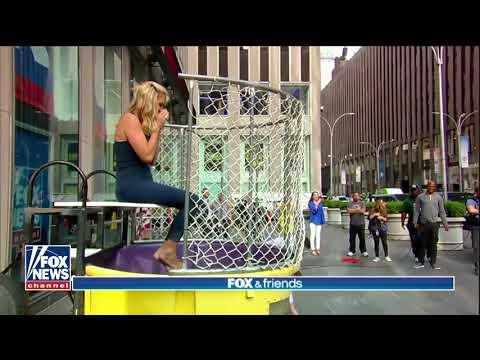 Baseball throwing nun takes aim at Fox & Friends dunk tank  Fox