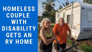 Homeless Couple With Disability Gets an RV Home