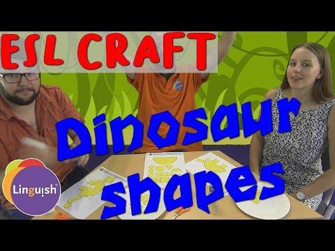 Linguish ESL Crafts // Dinosaur shapes // LT441