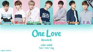 [2.95 MB] Monsta X (몬스타엑스) – One Love (Color Coded Han/Rom/Eng Lyrics)
