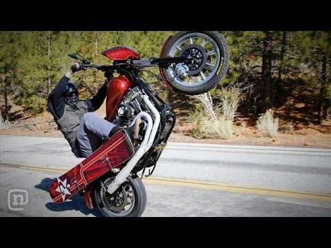 Harley Snowboarding Adventure: Wheelies, Burnouts & Boardsli