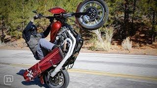 Harley Snowboarding Adventure: Wheelies, Burnouts & Boardslides On ETT