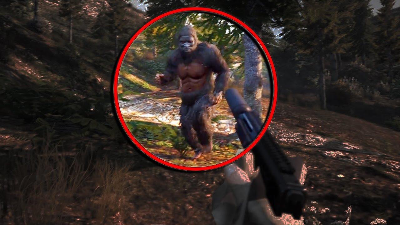 Gta  Real Bigfoot Easter Egg Mission Mod Gta V Bigfoot Killed