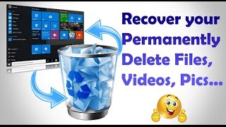 How to Easily Recover Deleted Files in Windows 7 , 8 & 10 | Easy Tutorial