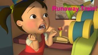 Английский язык для малышей - Мяу-Мяу - Сбежавший паровозик (Runaway Train) - учим английский
