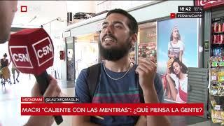 """Macri """"caliente con las mentiras"""": ¿qué piensa la gente?"""