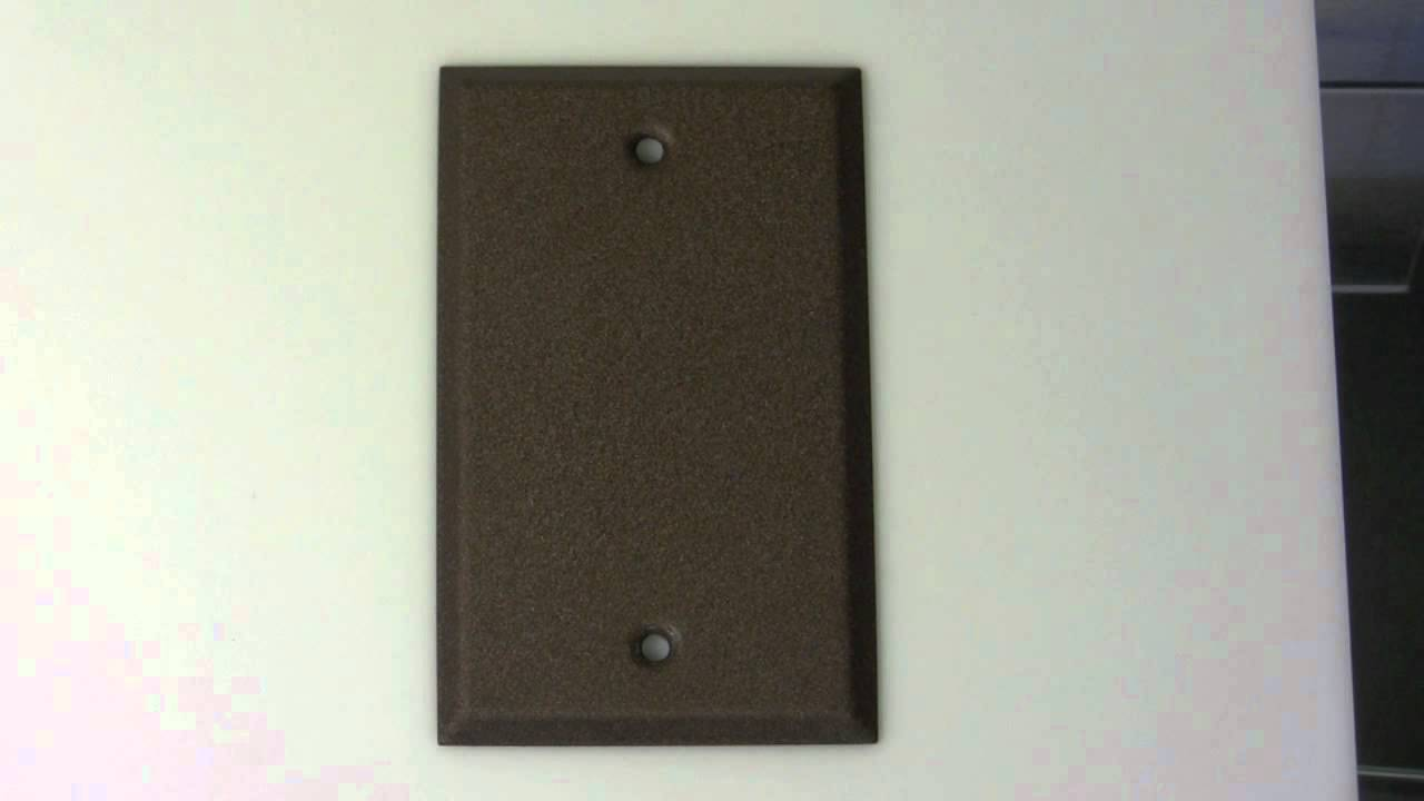 Blank Switch Plate Pleasing Blank Textured Bronze Switch Plate Cover  Youtube Inspiration Design