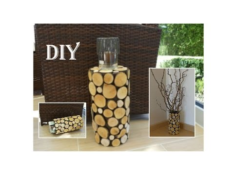 Diy Deko Mit Holzscheiben Decoration With Wood Slices Youtube
