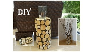 DIY: Deko mit Holzscheiben / Decoration with wood slices