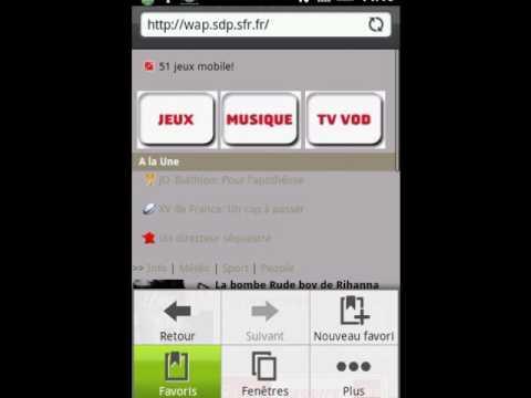 Vodafone Live et SFR TV sur Android