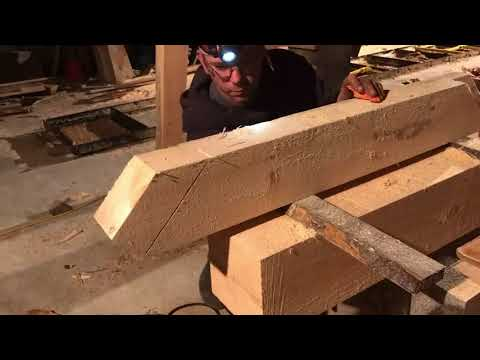 A Timber Frame Vlog #82: A Faster Way to Cut Braces