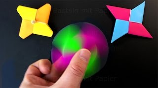 Origami Fidget Spinner - How to make a Fidget Spinner without a bearing: DIY Spinner with paper