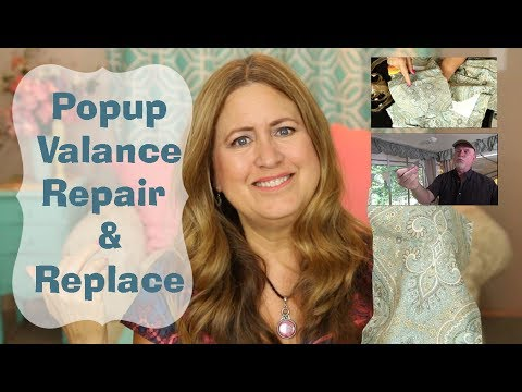Pop Up  Tent Trailer Valance and Curtains Repair and Replace
