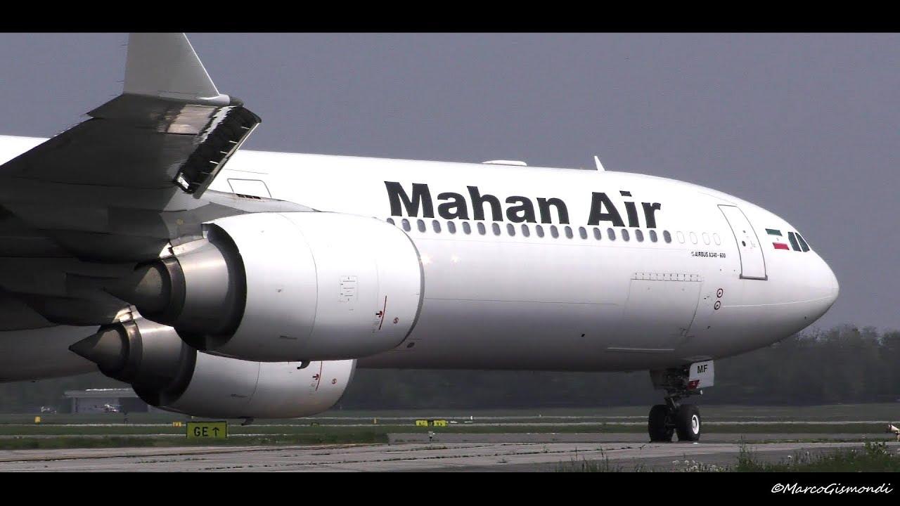 AWESOME! Mahan Air A340-600 taxi & takeoff VERY CLOSE! @ Milan Malpensa Airport