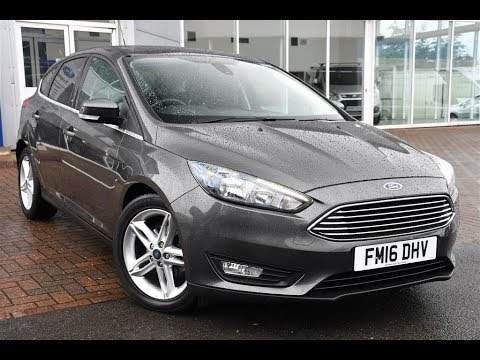 Used Ford Focus 1 0 Ecoboost 125 Zetec 5dr Magnetic Grey 2016