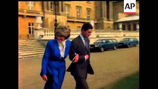 THE ENGAGEMENT OF THE PRINCE OF WALES AND LADY DIANA SPENCER - NO SOUND - COLOUR