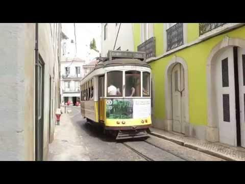 Beautiful Old Trams in Lisbon, Portugal