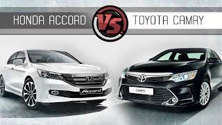 Toyota Camry Vs Honda Accord. Сравнительный тест(Современный мир, пытается сделать универсальным все. Вот и японские авто производители плывут по течению,..., 2015-04-02T09:59:53.000Z)