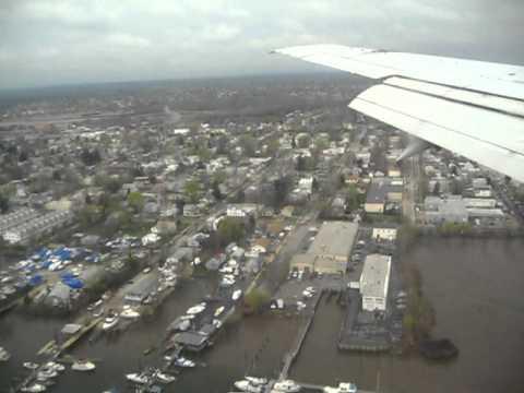 Landing in a jet in Philadelphia