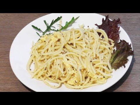 Спагетти с сыром и грецкими орехами - рецепт для лакто-ово-вегетарианцев