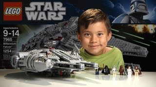 Repeat youtube video MILLENNIUM FALCON - LEGO Star Wars Set 7965 - Time-lapse Build, Stop Motion, Unboxing & Review