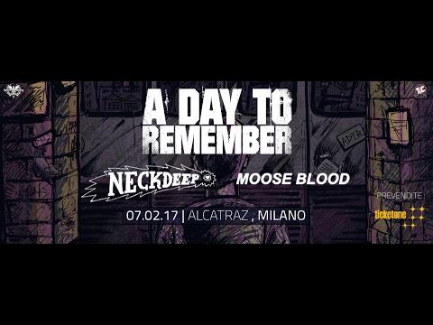 A Day To Remember - Intro + MHTATE + Paranoia Live @Alcatraz (Milano) 07 Feb 2017