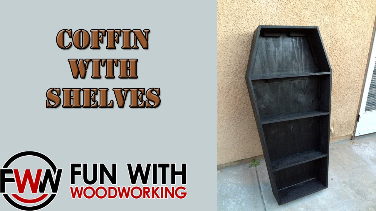 How to build a Coffin shaped shelf unit - YouTube