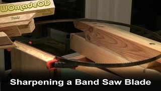 How To Sharpen A Band Saw Blade