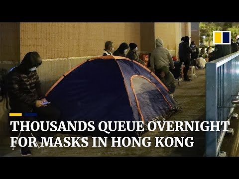 Coronavirus: desperate scenes as 10,000 queue for masks in Hong Kong