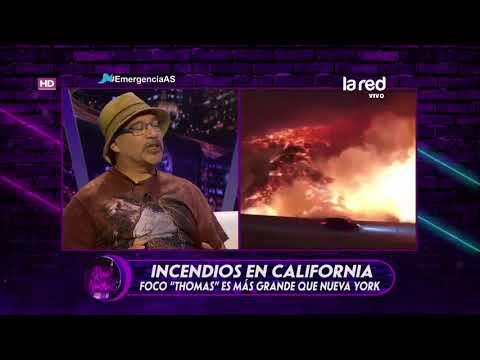Uno de los focos de los incendios en California es más grande que Nueva York