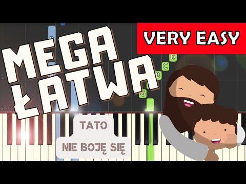 🎹 Tato (nie boję się gdy ciemno jest, Arka Noego) - Piano Tutorial (MEGA ŁATWA wersja) 🎹