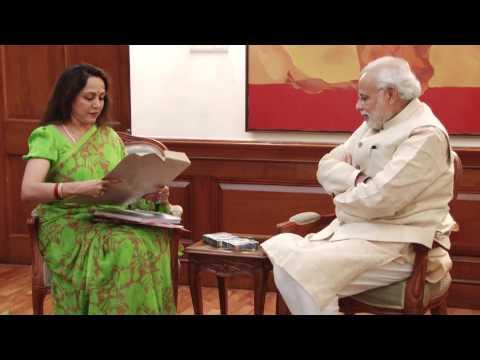 Lok Sabha MP Hema Malini calls on PM Modi