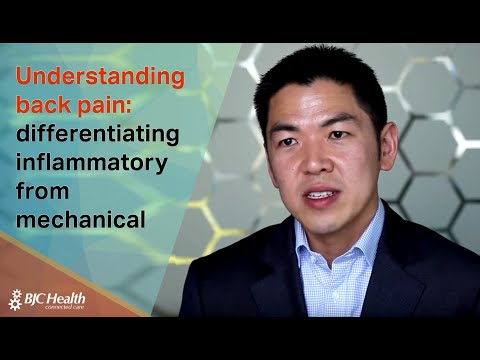 Understanding back pain: differentiating inflammatory from mechanical