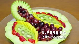 How to make a DELICIOUS FRUIT CENTER | Carving Fruit | FRUIT DECORATION