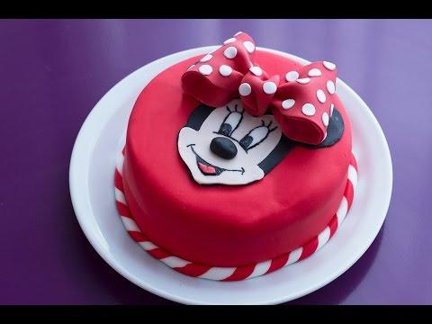Gâteau D'anniversaire Minnie  (décoration En Pâte à Sucre)