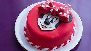 Gâteau D'anniversaire Minnie   Décoration En Pâte à Sucre
