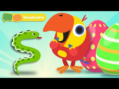 Learning First Words w Larry The Bird -Animal Sounds | Baby Sensory Stimulation | First University