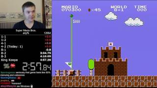 (4:57.244) Super Mario Bros. any% speedrun *Former World Record*