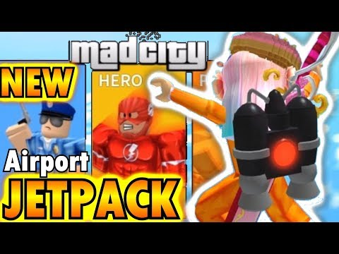 MAD CITY JETPACK GLITCH in NEW AIRPORT UPDATE without SPECIAL KEYCARD [ROBLOX]