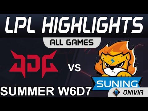 JDG vs SN Highlights ALL GAMES LPL Summer Season 2021 W6D7 JD Gaming vs Suning by Onivia