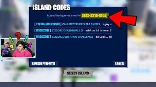I used a random creative code, you wont believe what I found.. (Fortnite)