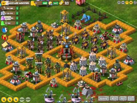 Backyard Monsters Base backyard monsters the best base!! - youtube