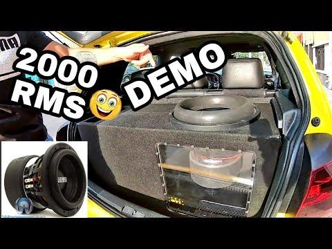 DEMO GOLF GTI MK6 2000 W ( PIONEER SUNDOWN PRECISION POWER ) ✔️✔️ lo que se rifara !!