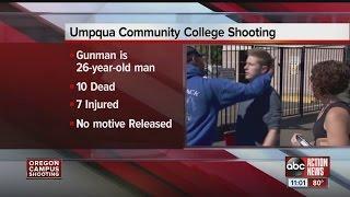 10 people dead in Oregon community college shooting, gunman ID'd