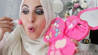 FULL FACE USING ONLY KIDS MAKEUP Challenge | ASMA FARES