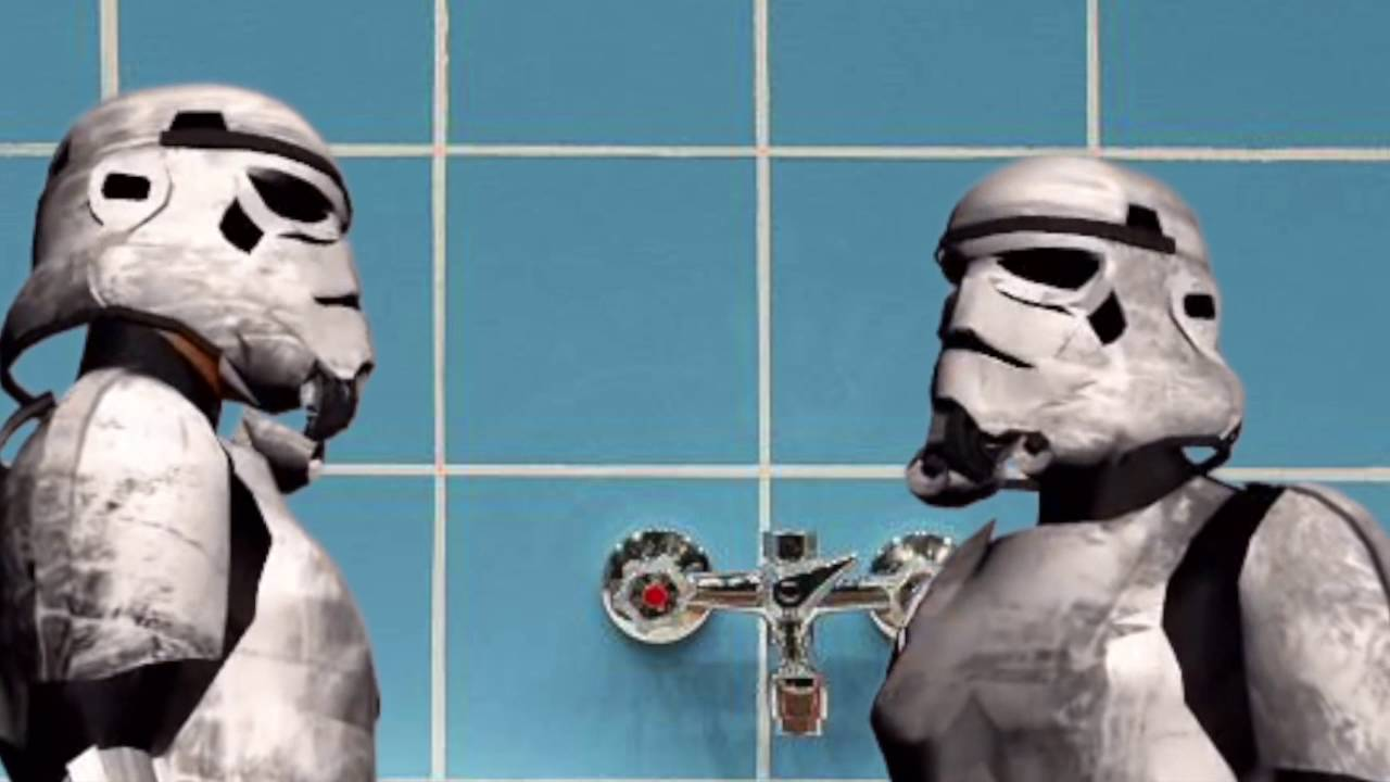 Loriot Feat Star Wars Stormtroopers In Dem Kult Cartoon Badewanne