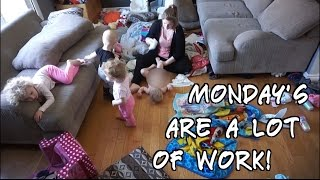 MONDAY MORNING ROUTINE OF STAY AT HOME MOM