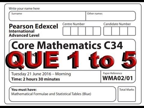 IAL C34 MAY 16 Part 1