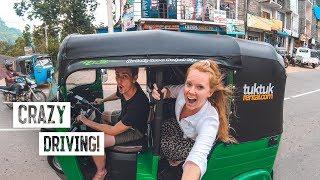 Driving in Sri Lanka is INSANE! - Tuk Tuk Road Trip Begins