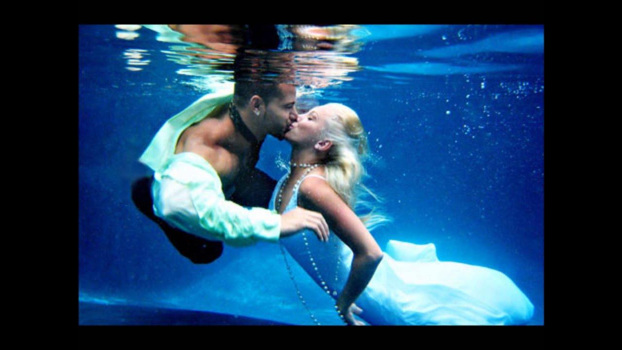 Euphoric underwater sex